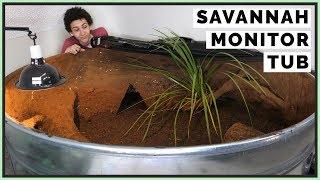 Designing a 400 Gallon Savannah Monitor Enclosure!
