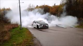 BMW E36 M3 Turbo Insane Burnout!!!