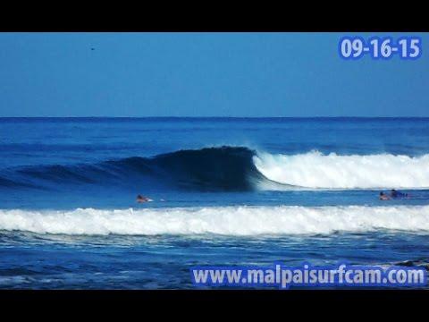 Surfing Santa Teresa, www malpaisurfcam com 09 16 15 Mal Pais Costa Rica