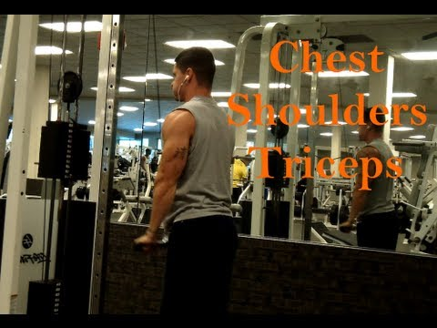 Push Day: Chest, Shoulders, and Triceps Workout Footage for Size and Strength