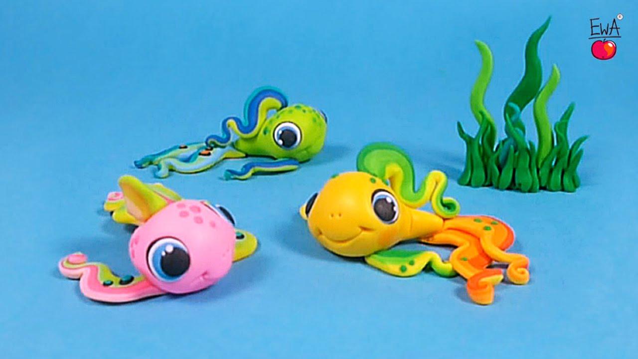 LETS CLAY Rainbow FISH Tczowa RYBKA Polymer Clay