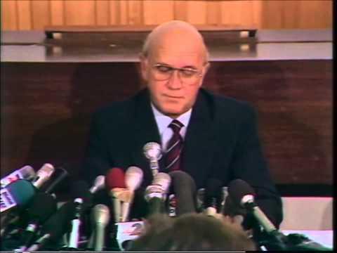 10 Feb 1990 - FW de Klerk announces the release of Nelson Mandela