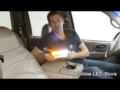 LAMPHUS® SolarBlast™ 12W LED Emergency Vehicle Strobe Warning Windshield Dash Light Part II