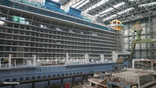 4K | SPECTRUM OF THE SEAS & SPIRIT OF DISCOVERY - Baustand auf Meyer Werft • 30.12.2018 • MeyerWerft
