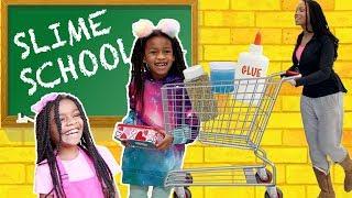 Slime School Field Trip ! Pretend Teacher FAIL  - New Toy School