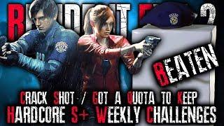 OMFG WHY THIS CHALLENGE || 95% Acc, 100+ Kills, Hardcore S+ || RESIDENT EVIL 2 REMAKE LIVE