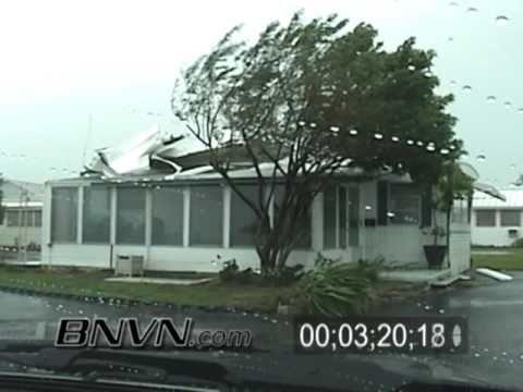 Hurricane Frances Video, Fort Pierce, FL and Hutchinson Island, FL Part 6