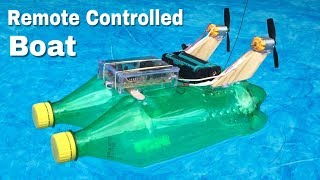 How to Make RC Boat at Home Out of Plastic Bottles - Amazing Toy