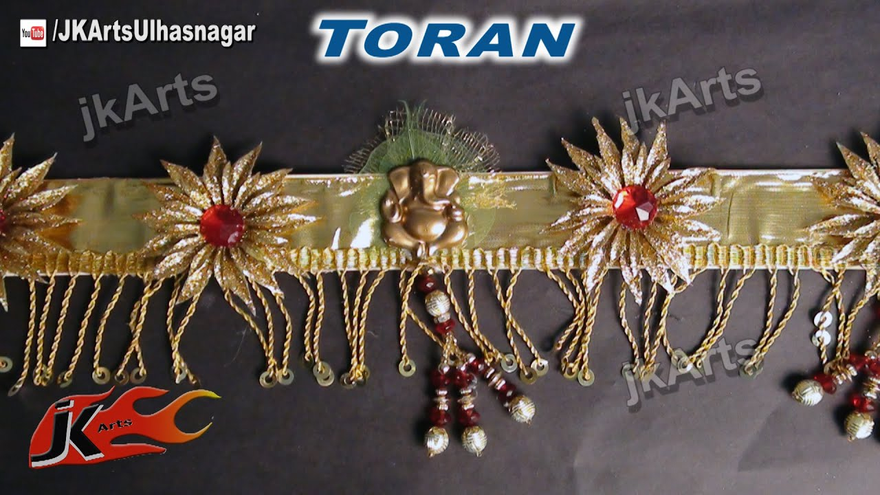 Diy how to make golden toran bandanwaars for diwali for Eid decorations to make at home
