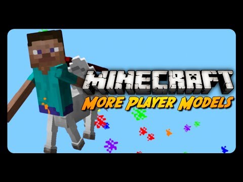 Minecraft Mod Review: MORE PLAYER MODELS 2! (Character Customization)