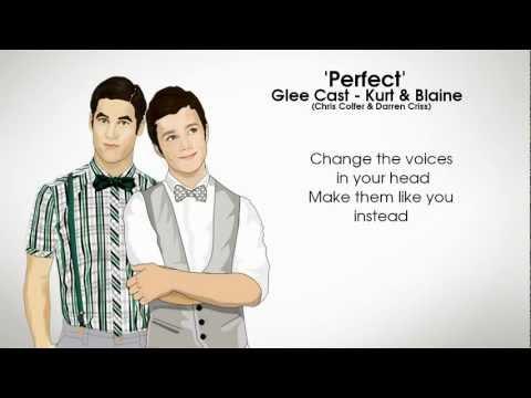 GLEE  Perfect Kurt & BlaineLyrics