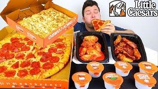 Little Caesars Pizza & Wings • MUKBANG