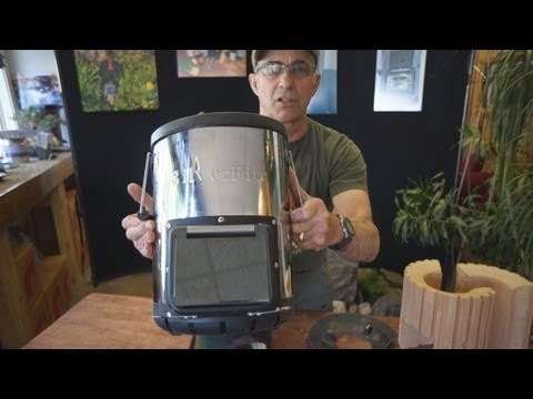 Todd Albi introduces SilverFire Survivor Rocket Stove - Stainless Steel