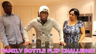 FAMILY BOTTLE FLIP CHALLENGE!!!