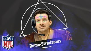 Tony Romo Predicts Play Calls in Broadcasting Debut | NFL Highlights