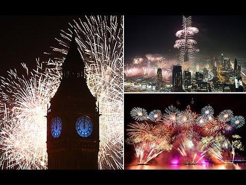 New Year fireworks displays around the world