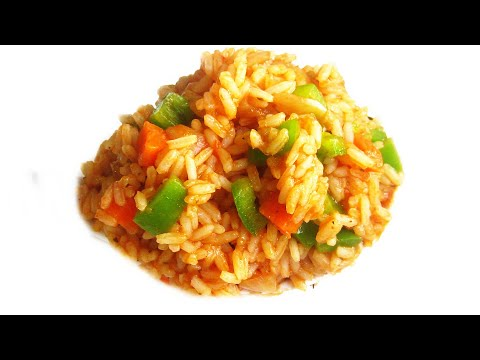 Nigerian Jollof Rice (with Carrots & Green Pepper)