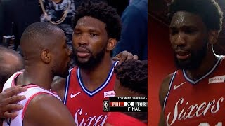 Joel Embiid gives his respect to each Raptors and cries after loss in game 7