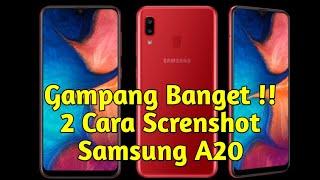 Kurang Canggih  ?? 2 Cara Screenshot Samsung A20
