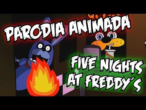 COMO SOBREVIVIR EN FIVE NIGHTS AT FREDDY´S!!! ( Spanish FanDub ) Parodia animada