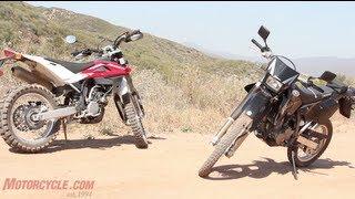 2012 Husqvarna TE250 vs. 2012 Suzuki DR-Z400 vs. 2013 Yamaha WR250R - 2012 Dual-Sport Shootout