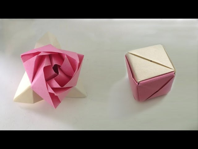 Origami Rose, the cube