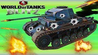 WORLD OF TANKS BLITZ#18 Танковая игра Немецкая ветка  Панцерь-2.Пушки .Новое видео для детей