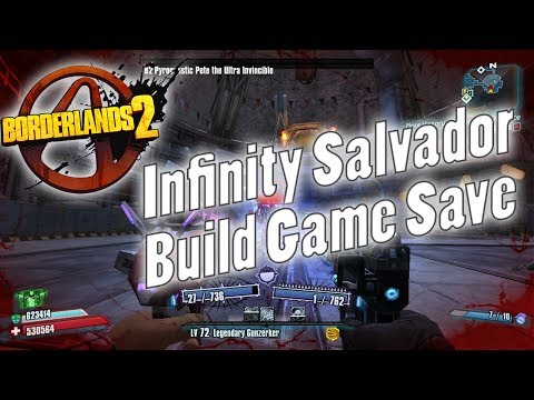 Borderlands 2   OP8 Infinity Build Gunzerker Game Save!