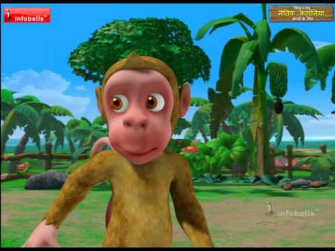 Monkey Menace Stories for Children in Hindi