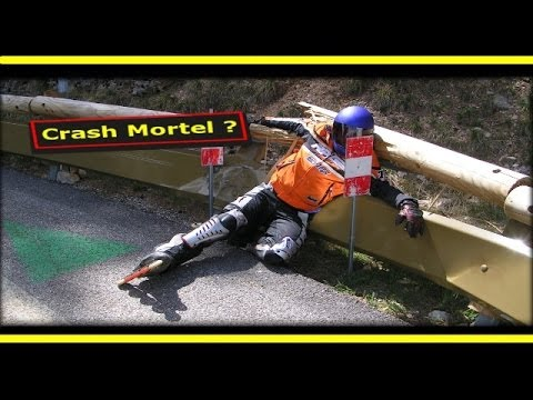 Red Bull 2014 Extrême Downhill  of Alpe d Huez by Fc (Rollerblade  rampage - Crashed - no limits)
