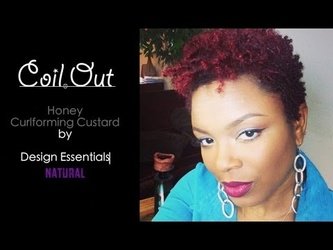 Natural Hair Coil Out Short Tapered Hair Design