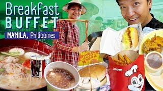 FIVE STAR Spiral BREAKFAST BUFFET & Jollibee Dinner in Manila Philippines