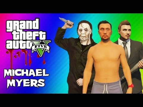 GTA 5 Online Maze Murderer - Michael Myers Mini Game FUN! (GTA 5 Funny Moments)