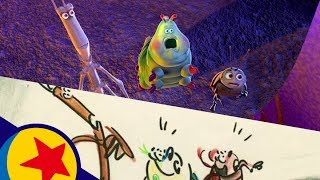 P.T. Flea's World's Greatest Circus from A Bug's Life | Pixar Side by Side