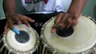 Tabla - Lesson 3 - Dhadra - 6 Beats, Thekas, Relas, Laggi, 8 in 6 Technique - www.Kav91.com - HD