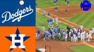 Dodgers vs Astros Highlights (The Benches Emptied) | (Breakdown voiced by Wheels)