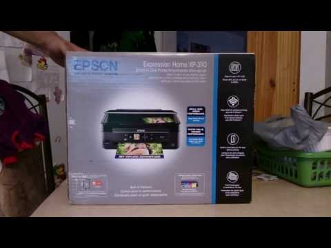 Unboxing our new Epson XP 310 and setting it up for WIFI
