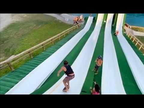INSTABLAST! TRIPLE KICKFLIP Back Lipslide!? Mega Ramp Ollie Impossible, Water Slide DROP IN LAUNCH