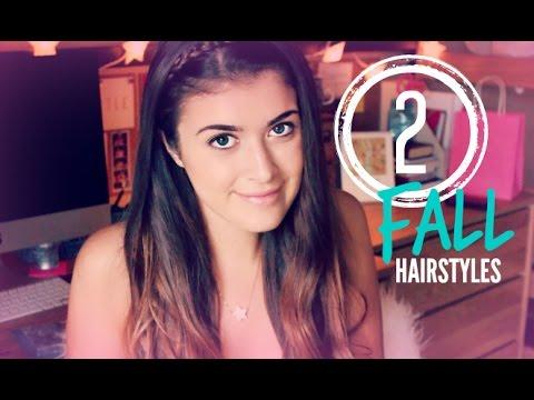 2 Easy Fall Hairstyles | hellokaty