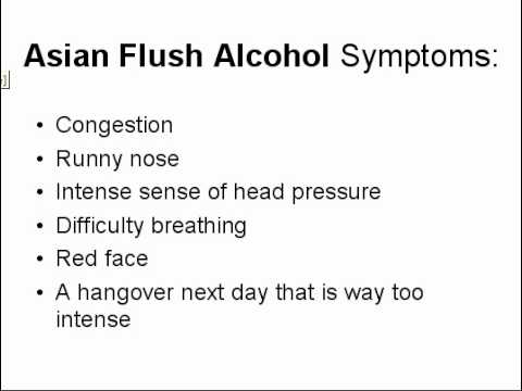 Asian Flush Alcohol - treatment for Asian Flush when you consume alcohol.avi
