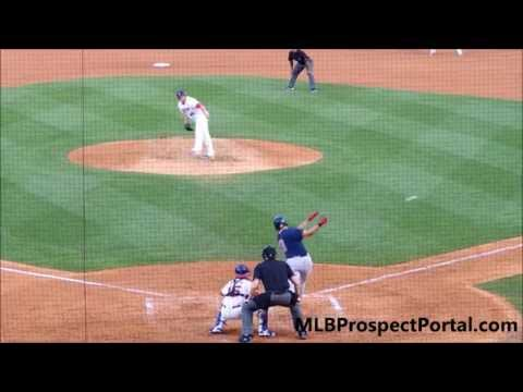 Garin Cecchini base hit - Boston Red Sox - Triple-A Pawtucket