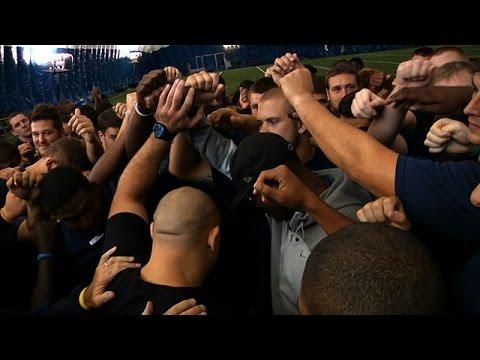 Fight Night Bangor Fighters Visit University of Maine Football Practice