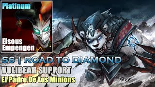 S6 | RANKED 2.0 EP#11 | Volibear Support - Control de Minions [Gameplay Español]
