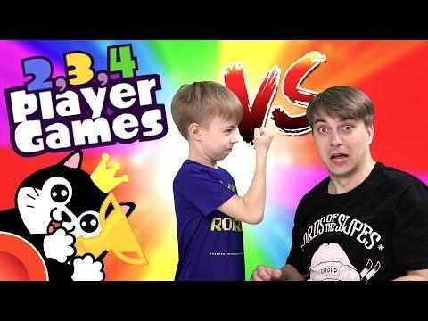 13 МИНИ ИГР - КТО КОГО? ДИМКА ЗЛОЙ! Играем в 2, 3, 4 PLAYER GAMES 😎😜