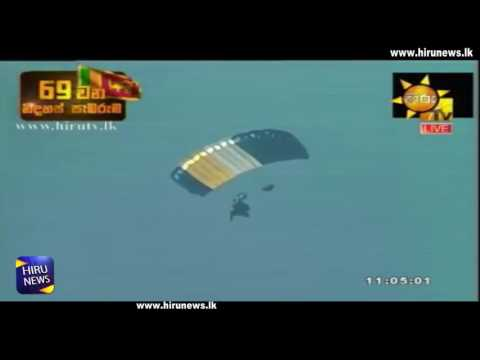 parachutists show on|eng