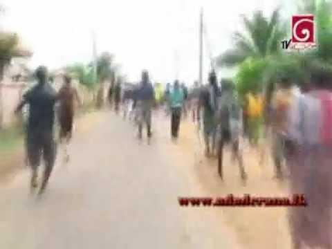 Protesters in Chilaw flee from police