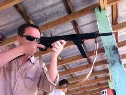 Shooting the STEN Mk. II submachine gun!