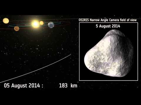 Space Comet Chasing Rosetta Spacecraft Approaches Its Target
