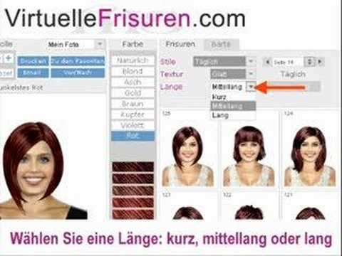 frisuren simulation online haare schneiden youtube. Black Bedroom Furniture Sets. Home Design Ideas