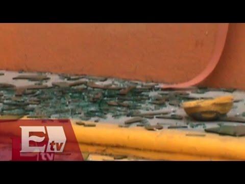 Maestros de la sección 22 causan destrozos en Oaxaca